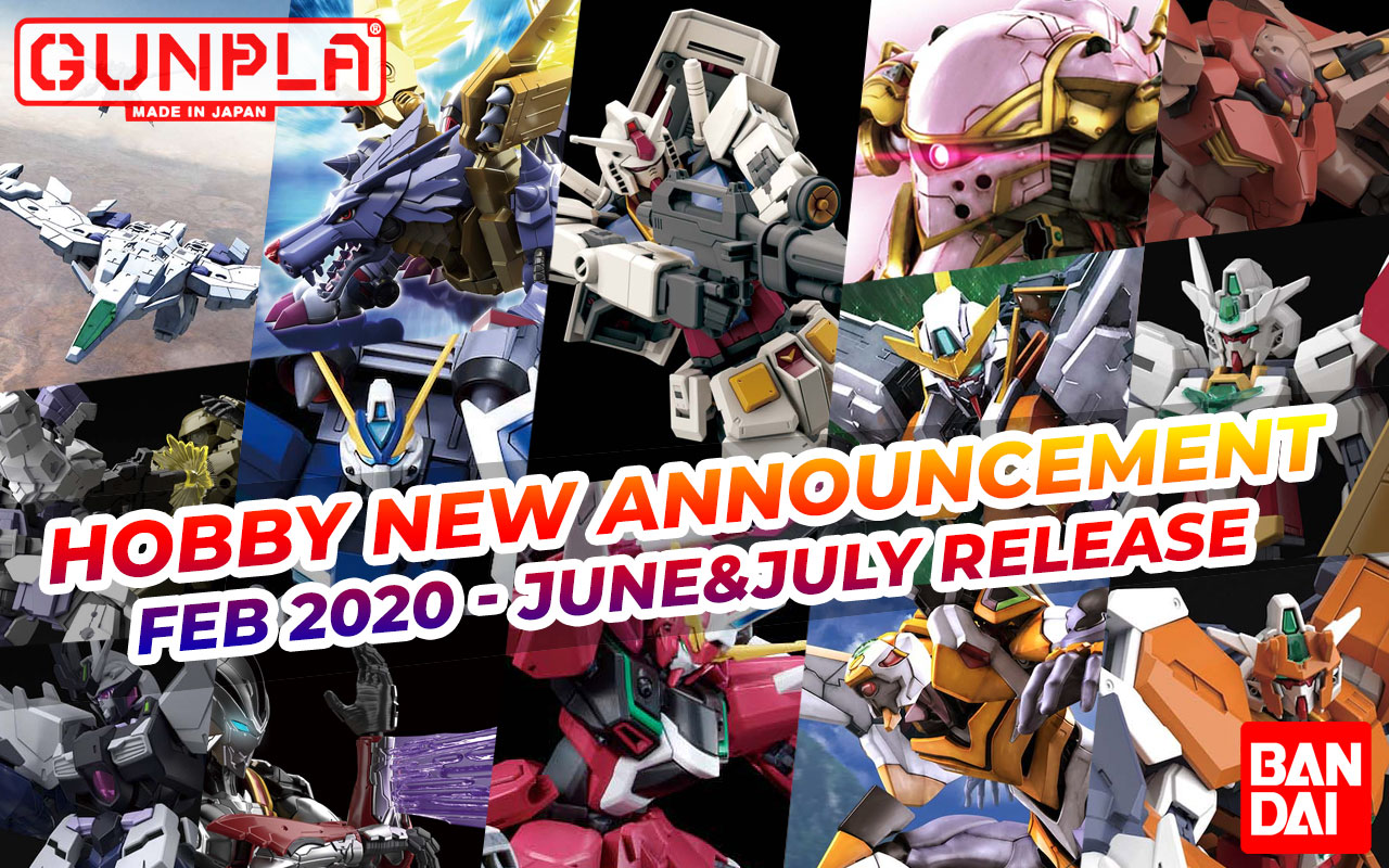 BANDAI Hobby February 2020 Announcement: June ~ July 2020 Arrivals