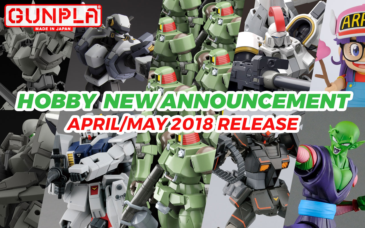 Bandai Hobby April & May New Announcements