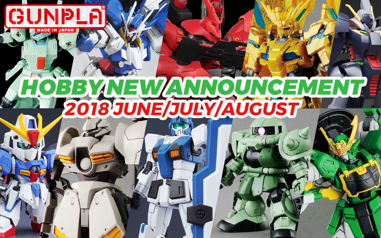 Bandai Hobby June ~ August New Announcements