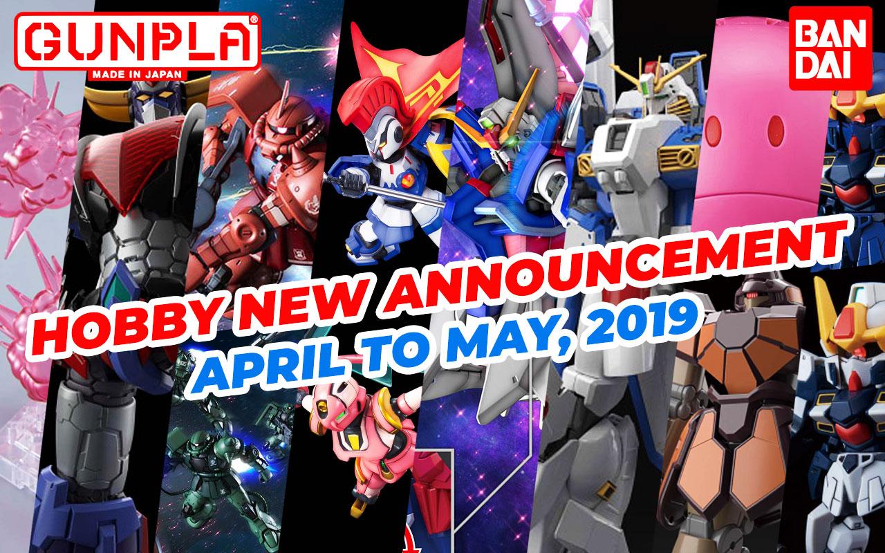BANDAI Hobby Jan 2019 Announcement: April ~ May 2019