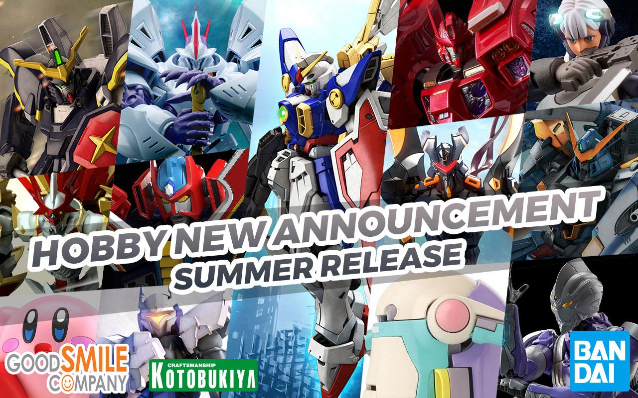 Hobby Items February 2021 Announcement: Summer 2021
